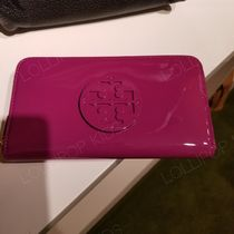 2018AW♪ Tory Burch ★ STACKED PATENT ZIP CONTINENTAL WALLET
