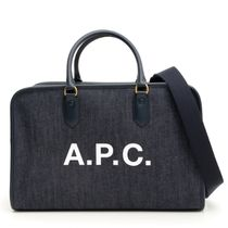 A.P.C. Denim And Vinyl Gertrude Bag