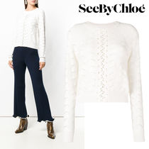 【Last one】SEE BY CHLOE` EMBROIDERED MOTIF SWEATER