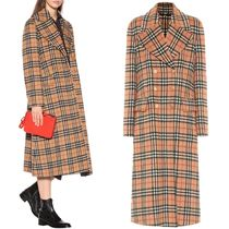 18-19AW BB114 VINTAGE CHECK ALPACA WOOL TAILORED COAT