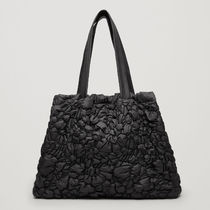 COS☆GATHERED PADDED TOTE BAG / black