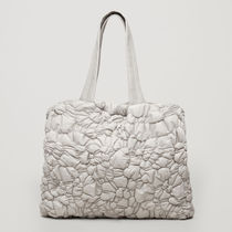 COS☆GATHERED PADDED TOTE BAG / grey