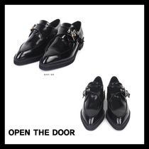 新作★OPEN THE DOOR★leather slim monk strap shoes
