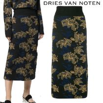 【18AW】★Dries Van Noten★floral midi skirt