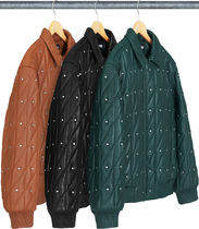 【WEEK11】Supreme Quilted studded leather jacket
