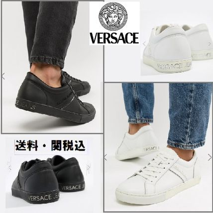 Versace Jeansレザートレーナーwith ロゴ