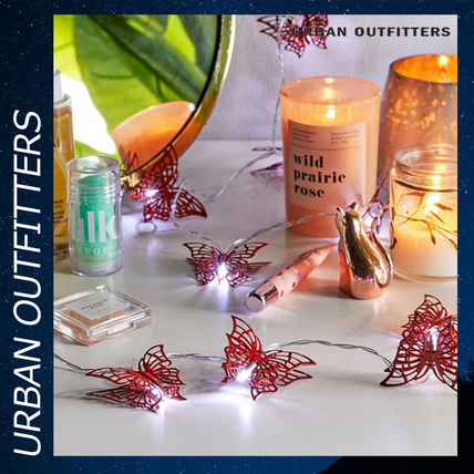 Urban Outfitters 照明 Urban Outfitters Butterfly String Lights ライト 照明 レッド