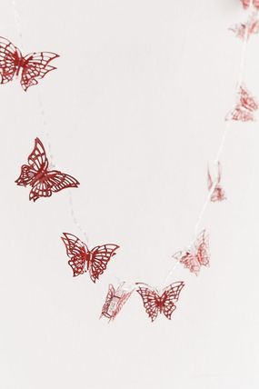 Urban Outfitters 照明 Urban Outfitters Butterfly String Lights ライト 照明 レッド(4)