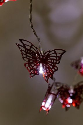 Urban Outfitters 照明 Urban Outfitters Butterfly String Lights ライト 照明 レッド(7)