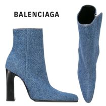 【18AW】BALENCIAGA★pointed denim boots