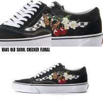 VANS★OLD SKOOL★CHECKER FLORAL★チェック柄★花柄★刺繍
