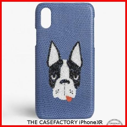THE CASE FACTORY スマホケース・テックアクセサリー 関税送料込☆THE CASEFACTORY☆IPHONE XR SWAROVSKI DOG