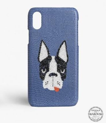 THE CASE FACTORY スマホケース・テックアクセサリー 関税送料込☆THE CASEFACTORY☆IPHONE XR SWAROVSKI DOG(2)