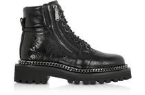 Black Leather Army Boots レザーアーミーブーツ