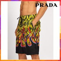 【関税込◆国内発送】PRADA◆Banana and flameprint swim shorts
