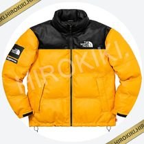 17AW /Supreme The North Face Leather Nuptse Jacket レザー 黄