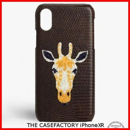 THE CASE FACTORY スマホケース・テックアクセサリー 関税送料込☆THE CASEFACTORY☆IPHONE XR SWAROVSKI キリン