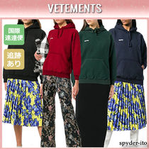 19AW★送料込【VETEMENTS】INSIDE-OUT ロゴパッチ パーカー