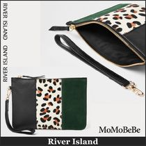 【国内発送・関税込】RIVER ISLAND★leather panel clutch bag