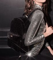 Velvet Stud Small City Backpack