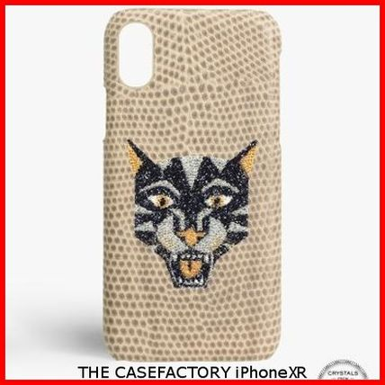 THE CASE FACTORY スマホケース・テックアクセサリー 関税送料込☆THE CASEFACTORY☆IPHONE XR SWAROVSKI TIGER