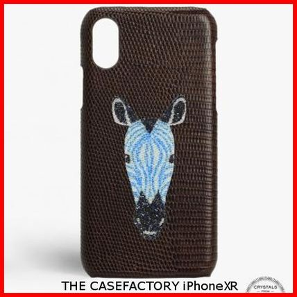THE CASE FACTORY スマホケース・テックアクセサリー 関税送料込☆THE CASEFACTORY☆IPHONE XR SWAROVSKI ZEBRA