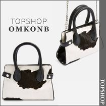 【国内発送・関税込】TOPSHOP★Paris Cow Print Mini Tote Bag