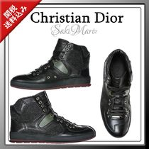 【DIOR】レザースニーカー high top leather sneakers b19