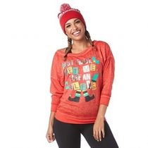 ★国内発送★ ズンバ Zumba Elf Pullover Top Wel Red