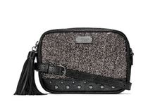 Glitter Mesh Convertible City Crossbody Belt Bag