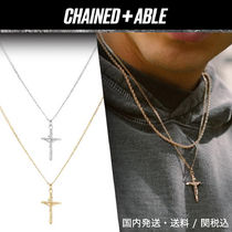 Chained&Able★ミニFLAT ANCHOR CRUCIFIXペンダント★クーポン付