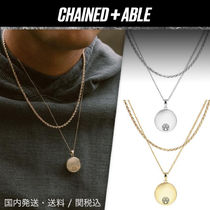 Chained & Able(チェーンドアンドエイブル) ネックレス・チョーカー Chained & Able★ロゴメダリオンROPE2連ネックレス★クーポン付