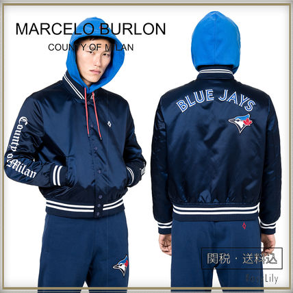関税/送料込◆TO BLUE JAYS VARSITY JACKET◆Marcelo Burlon