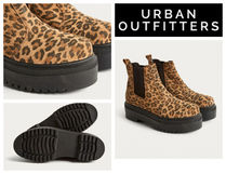 Urban Outfitters(アーバンアウトフィッターズ) ショートブーツ・ブーティ 【UrbanOutfitters】Brody Leopard Print Platform Chelsea Boot