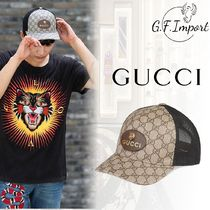 【VIP SALE!!】GUCCI☆GG Supreme Tiger ロゴ付きキャップ