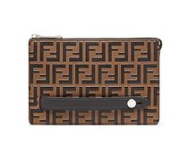 【関税負担】 FENDI LOGO EMBOSSED CLUTCH
