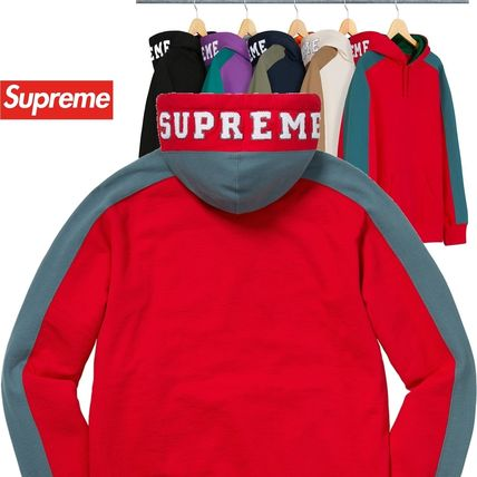Supreme パーカー・フーディ Supreme シュプリーム Paneled Hooded Sweatshirt AW 18 WEEK 11
