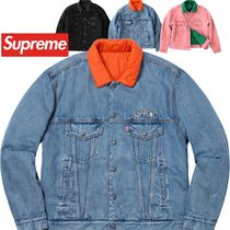 Supreme Levi's Quilted Reversible Trucker Jacket AW18 WEEK11