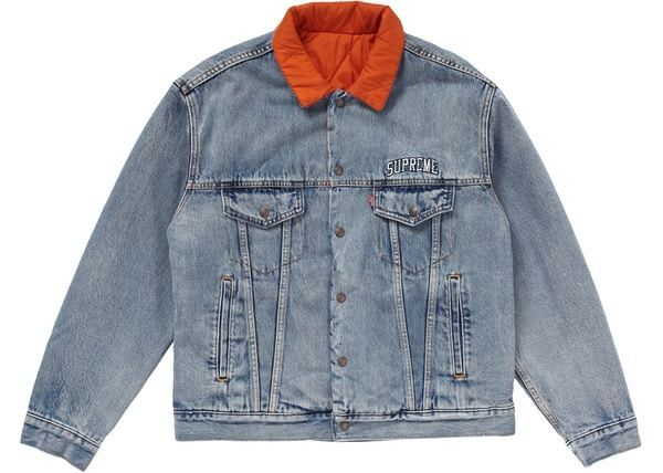 Supreme Levi's Quilted Reversible Trucker Jacket AW18 WEEK11 (Supreme/パーカー・フーディ) 39406370
