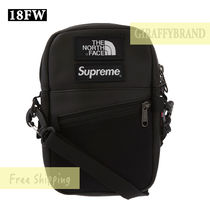 ブラック ☆ SUPREME The North Face Leather Shoulder Bag