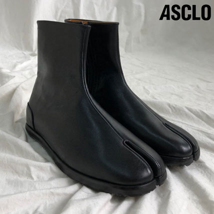 ASCLO ブーツ ◆男女共用◆ASCLO◆TABI ANKLE BOOTS◆HANDMADE LEATHER SHOES