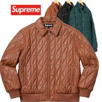 SUPREME Quilted Studded Leather Jacket AW 18 WEEK 11