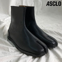 ◆男女共用◆ASCLO◆TABI SHORT BOOTS BOOTY◆HANDMADE LEATHER