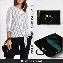 【国内発送・関税込】RIVER ISLAND★leather hoop pouch clutch