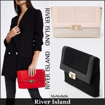 【国内発送・関税込】RIVER ISLAND★lock front clutch bag