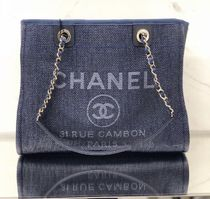 2019 RESORT店頭入荷★CHANEL★Deauville tote in NAVY (M)