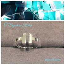 【Tiffany & Co】Tiffany T Silver Square Ring