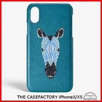 関税送料込☆THE CASEFACTORY☆IPHONE X/XS SWAROVSKI ZEBRA