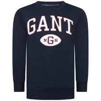 GANT(ガント ) キッズ用トップス Boys Navy Cotton Collegiate Sweater