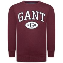 GANT(ガント ) キッズ用トップス Boys Burgundy Cotton Collegiate Sweater